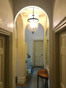 Soanian arches in the hallway