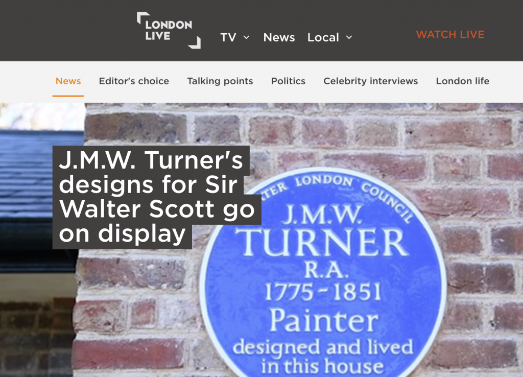 News Coverage of Turner's House