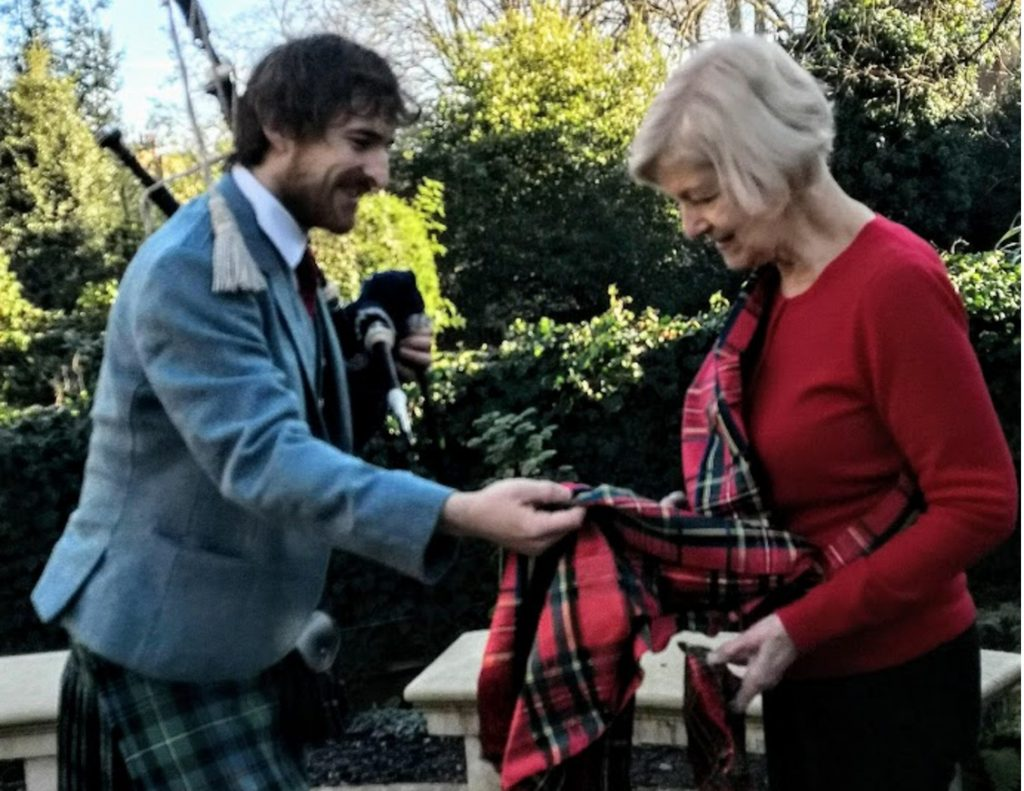 Volunteer's Tartan Family Connection to Turner